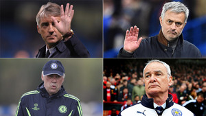 Mancini, Mourinho, Ancelotti y Ranieri. Campeones... Y despedidos al curso siguiente