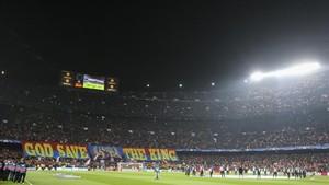 La mejor entrada fue ante el Chelsea, con un impresionante ambiente y homenaje al rey Messi