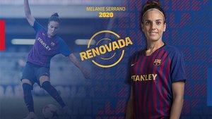 Melanie Serrano seguirá un año más en el Barça