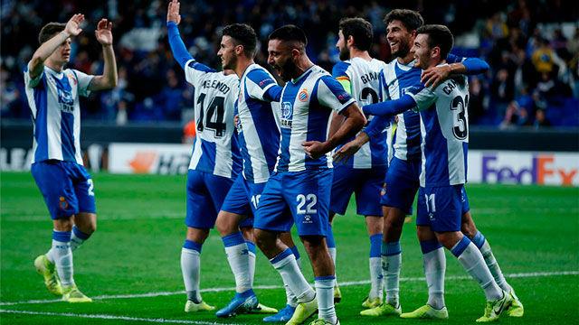 Noche mágica en Cornellà. Vea la goleada del Espanyol ante el Ludogorets
