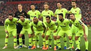 El once inicial del Barça que vayó en Liverpool