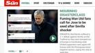 La prensa inglesa machacó a Mou