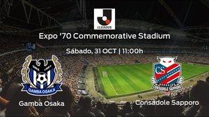 Previa del encuentro de la jornada 25: Gamba Osaka - Consadole Sapporo