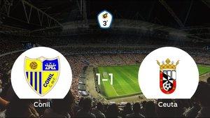 Reparto de puntos entre el Conil y el Ceuta (1-1)