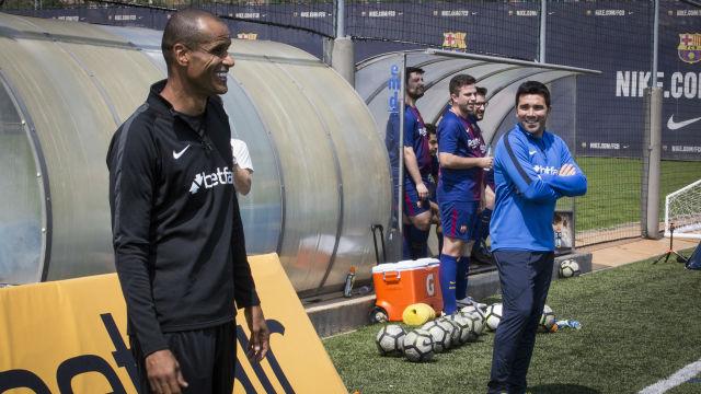 Rivaldo y Deco, entrenadores por un día