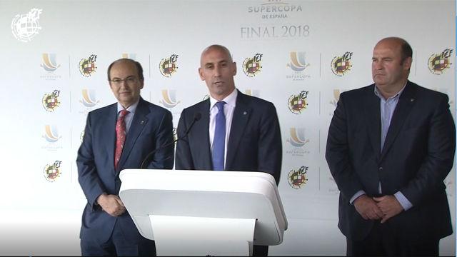 Rubiales: Hay muchas posibilidades de que la Supercopa sea a partido único