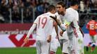 Sergio Ramos marcó un doblete desde los once metros ante Rusia