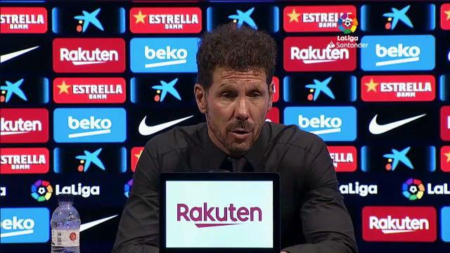 Simeone habló tas el partido ante el Barça