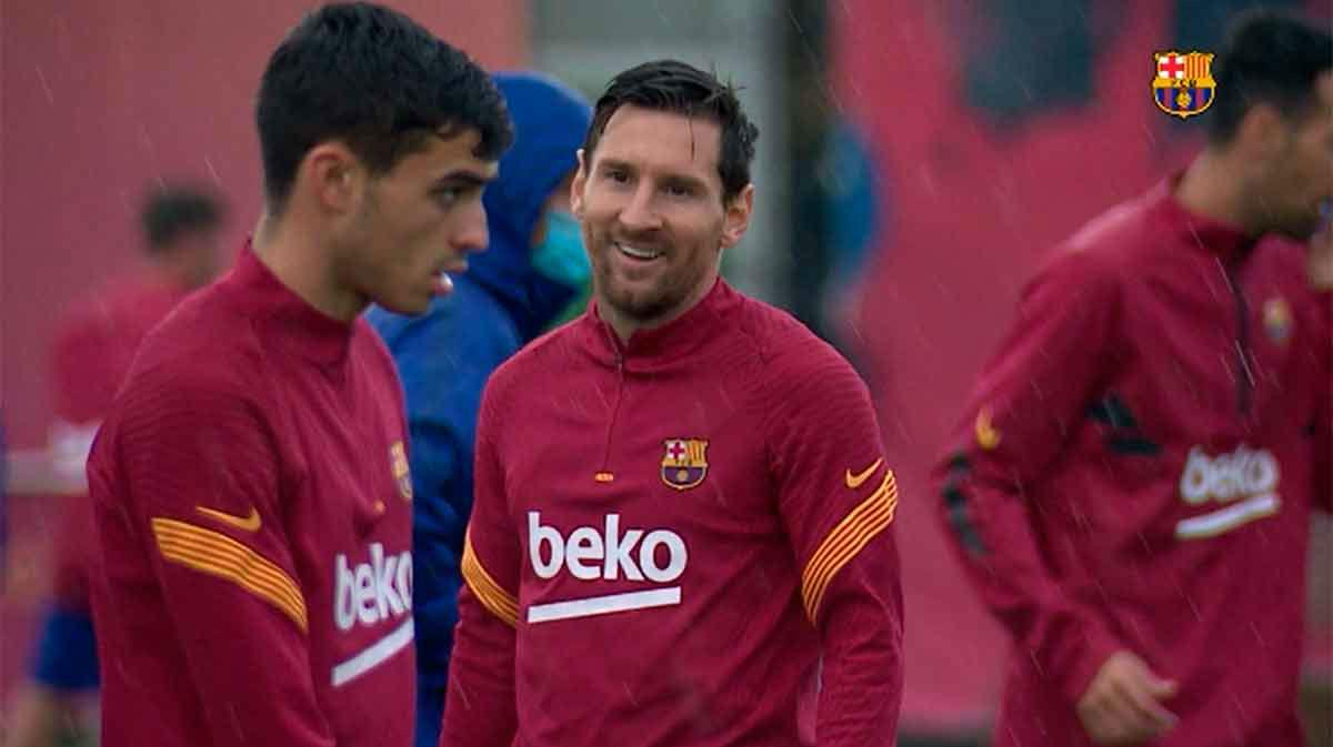 La sonrisa de Leo Messi que tranquiliza a los aficionados azulgranas