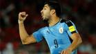Suárez, con la camiseta de la selección uruguaya