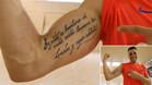El tatuaje de Sergio Lozano refleja su filosofía ante la adversidad