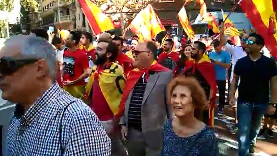 Tebas estuvo en la manifestación de Barcelona