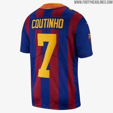 a57493e7024c4 Vea la camiseta del Barcelona inspirada en la NFL