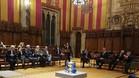 Ada Colau, durante la presentación del Barcelona Open Banc Sabadell 2018