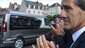 Alain Prost , en la despedida a Hubert