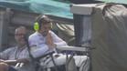 Alonso siguió los entrenamientos por tv y con buen humor