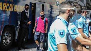 El Barça y Messi ya están en Lisboa
