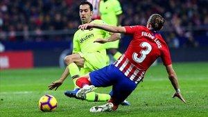 Busquets lo dio todo en su partido 500 con el Barça