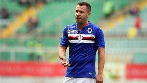 Cassano durante su etapa en la Sampdoria