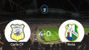 El Coria se queda con los tres puntos ante el Rota (4-0)
