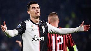 Cristiano Ronaldo no está viendo puerta con asiduidad en la Serie A
