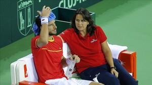Feliciano López y Conchita Martínez