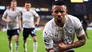 Gabriel Jesus marcó su gol número 42 con el Manchester City ante el Wolves