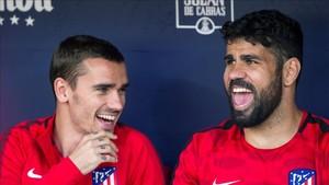 Griezmann y Costa mantienen una buena relación en el Atlético