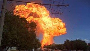 Impactante explosión en una gasolinera del suroeste de Rusia