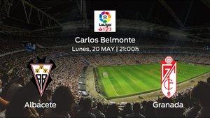 Jornada 39 de la Segunda División: previa del encuentro Albacete - Granada
