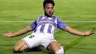 Jose Arnáiz celebra un gol con el Valladolid