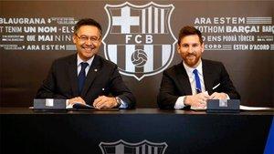 Josep Maria Bartomeu está convencido de que Messi renovará con el Barça