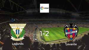 Levante earned hard-fought win over Leganés 1-2 at Estadio Municipal de Butarque