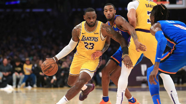 Los Ángeles Lakers 112-107 Oklahoma City Thunder