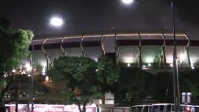 Los hinchas del River Plate celebran una nueva Recopa Sudamericana en Buenos Aires