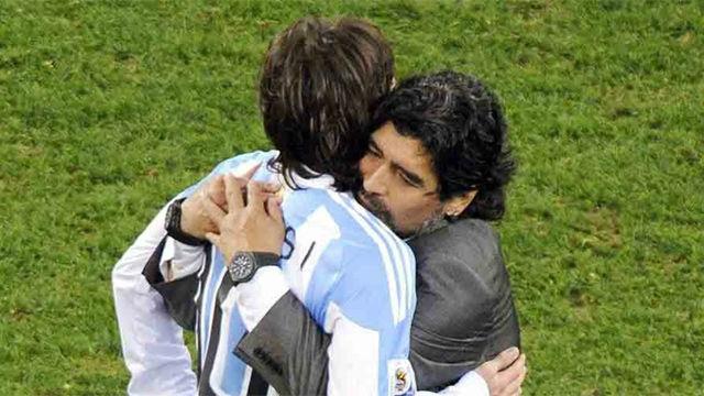 Messi recuerda con cariño su etapa con Maradona en Argentina
