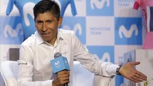 Nairo Quintana, corredor de Movistar