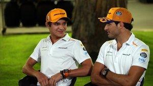 Norris y Sainz, pilotos de McLaren