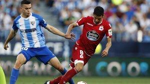 Pese a disputar el play-off del ascenso de la última temporada, el Málaga está en el descenso