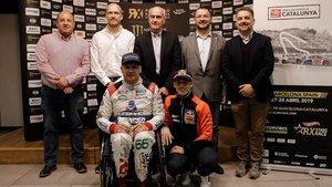 Pol Espargaró y Albert Llovera, en la presentación del Catalunya RX