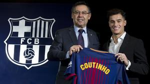 Presentación Philippe Coutinho con el FC Barcelona