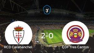 El RCarabanchel se lleva la victoria en casa frente al Tres Cantos (2-0)