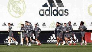 El Real Madrid preparó el partido de Champions sin Sergio Ramos