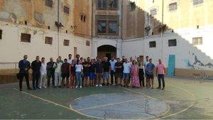 Reunión de voluntarios de Espartans de Catalunya en la carcel La Modelo