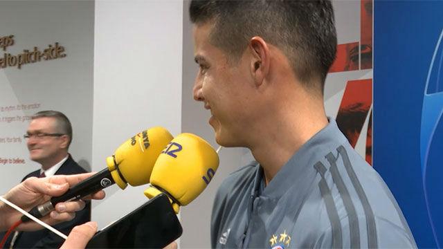 Ribéry interrumpió a James para colar un mensaje en perfecto español y dejar a todos con la boca abierta