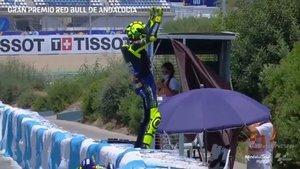Rossi, eufórico tras volver al podio en Jerez
