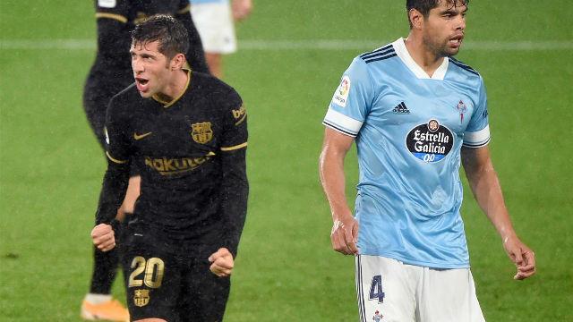 Sergi Roberto puso el 0-3 con un voleón