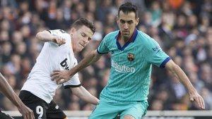 Sergio Busquets dio sus impresiones sobre la derrota del FC Barcelona ante el Valencia