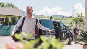 Ter Stegen, a su llegada a la concentración de la mannschaft