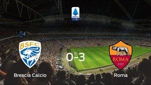 Tres puntos para el casillero de la AS Roma tras golear al Brescia Calcio (0-3)